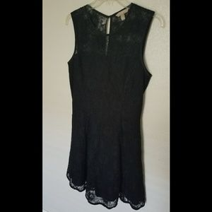 Banana Republic Lace Overlay Sleeveless Dress
